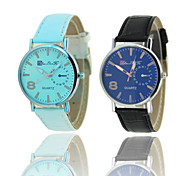 2016 New Top Fashion Lovers' Glass Watches Leather+stainlesssteel Noctilucent Quartz Wrist Cool Watch Unique Watch