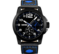 SKMEI® New Racing Design Genuine Leather Analog Display Quartz Watch