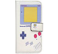 game machine patroon pu leer stand-kaartslot case voor Galaxy s7