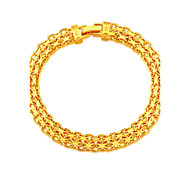 18K Stamp Gold Plated Korea Bracelet New Fashion Rock Style 20 CM 8 MM Thick Snake Chain Bracelet Jewelry B40185