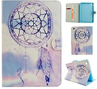 Purple Wind Chimes  Coloured Drawing or Pattern PU Leather Folio Case Tablet Holster for iPad Mini 3/2/1