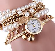 Mulheres Relógio de Moda Bracele Relógio Quartzo Relógio Casual Lega Banda Pérolas Prata Dourada Dourado Prata