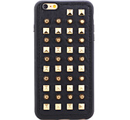 série couro rebite de ouro redondas pontos TPU tampa traseira macia para o iPhone 5 / 5s