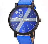 Men's Fashion Dial Leather Band Quartz Wristwatch
