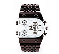 Fire The Three Time Zone Personality Watch/Alloy Strip Men'S Watch