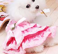 Cães Casacos Rosa Verão Fashion
