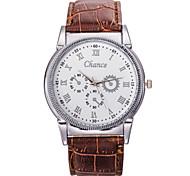 Men's Fashion Watch PU Belt Scale Commercial High-Grade Quartz Watch Wrist Watch Cool Watch Unique Watch