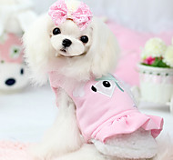 Dog Coat Green / Blue / Pink Dog Clothes Winter Cartoon Fashion