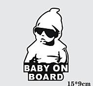 15 * 9cm / bambino freddo a bordo adesivo moto adesivo auto