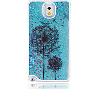 Black Dandelion  Painted Quicksand PC Phone Case For Samsung Galaxy Note3/Note4/Note5 + A Touch Screen Pen