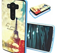 2-in-1 Tower Pattern TPU Back Cover with PC Bumper Shockproof Soft Case for LG V10/G4 Pro