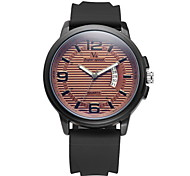 V6® Men's Fashion Date  Analog Display Rubber Band Quartz Watch Cool Watch Unique Watch