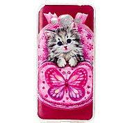 Butterfly Cat Pattern TPU Soft Case Phone Case For Samsung Galaxy J5/J1/G530