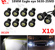 10 x 9W LED ojo de águila de niebla del coche luz diurna DRL revertir 12v negro señal de estacionamiento de reserva