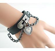 Alloy / Leather Bracelet Leather Bracelets Daily / Casual 1pc