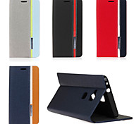 For Huawei Case Card Holder / with Stand / Flip Case Full Body Case Solid Color Hard PU Leather Huawei