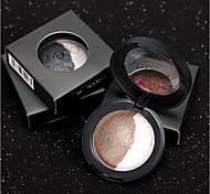 2 Palette de Fard à Paupières Sec Fard à paupières palette Poudre Normal Maquillage Quotidien