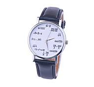 New Fashion Casual Ladies Leather Quartz Mathematical Symbols Women Wrist Watches Cool Watches Unique Watches
