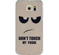 Don't touch my cell phone Pattern TPU Relief Back Cover Case for Galaxy S5/Galaxy S6/Galaxy S6 edge/Galaxy S6 edge Plus