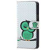 For Samsung Galaxy Case with Stand / Flip Case Full Body Case Owl PU Leather Samsung J5 (2016)
