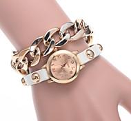 la mode féminine montre la dernière liste de la nouvelle chaîne en alliage de mode avec une montre montre quartz plaqué or