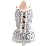 Dog Dress Gray Summer Fashion
