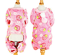 Dog Hoodie / Clothes/Jumpsuit Pink Dog Clothes Winter Fashion