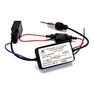 antena automóvel carro universal de rádio amplificador de sinal fm veículo amp 76-108mhz 12v fm reforço forte anti-interferência