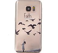 geloof patroon TPU hulp Cover Case voor Galaxy S7 / galaxy S7 edge / galaxy s7 rand plus