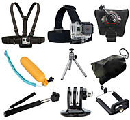 9 in 1 Kit Headstrap Buoyancy Rod Chest Strap For All Gopro Sj4000 Sj5000 Sports Action Camera