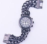 Masculino Assista Quartz Relógio de Moda Impermeável Aço Inoxidável Banda Porta-Chaves Relógio / camuflagem