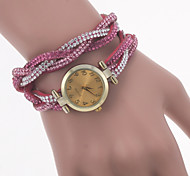 Women's Fashion Watch The New Color Velvet With Diamond Korea Turns Of Quartz Watches