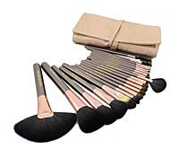 Набор высококачественных кистей для макияжа из шерсти козы, 20 шт., чехол в комплекте, 3 цвета