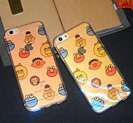 Cartoon Sesamstraße glitter blu-ray reflektierend halbtransparenten weich iphone Schutzhülle für iPhone 6s / iphone 6