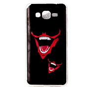 Strange Smile Pattern TPU Soft Case Phone Case For Samsung Galaxy J5/J1/G530