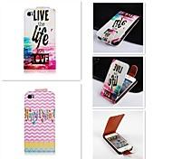 цвет на английском языке Паттен вверх-вниз листающиеся пу кожаный полный случай тела для iphone 4 / 4s