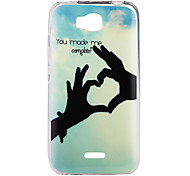Lovley Hand Pattern TPU IMD Material Back Cover for Huawei Y5C