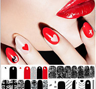 Black and White Red Classic Series Stickers  DIY Decorations Nail Art Tools