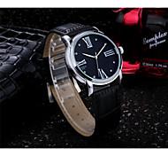Herren / Damen / Paar Modeuhr Quartz Leder Band Silber / Gold Marke-