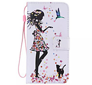 Dress Girl Pattern Phone Leather For Samsung Galaxy S7/S7 edge/S6 edge Plus