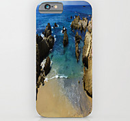 copertina rigida causa figura vista mare modello PC per iPhone6 ​​/ 6S