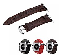 Premium Genuine Leather Crocodile Pattern Replacement Strap Watch Bandfor 38 mm and 42mm Apple Watch All Models