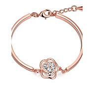 Chaînes & Bracelets 1pc,Doré / Or Rose Bracelet Zircon / Cuivre / Plaqué or / Plaqué Or Rose Bijoux Femme