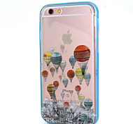 Hot Air Balloon Design LED Flicker Back Cover+Bumper Cover for IPhone 6/6S