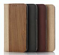 modèle en bois de haute qualité étui portefeuille pour Samsung Galaxy s7 / S6 / s5 (couleurs assorties)