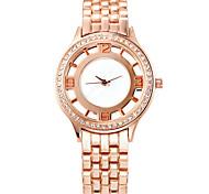 COMTEX des femmes. rose montre à quartz or avec syl159004 en acier