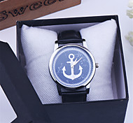 Sea Anchor Watch Leather Band Unisex Watch Quartz Analog Wrist Watch for ladies, Women, Boyfriend watch