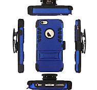 3 in 1 TPU+PC Iron Man Heavy Duty Rugged Impact Belt Clip Case for iPhone 6 Plus/6s Plus(Assorted Colors)