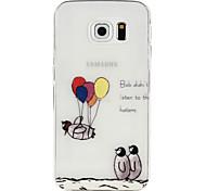 For Samsung Galaxy Case Transparent Case Back Cover Case Cartoon TPU Samsung S6 edge / S6