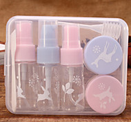 7Piece Travel Bottle Set  Lightweight Hygiene Essentials and Cosmetic Container Set Compact Kit (Random color)
